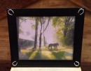 picture-frame---black-wood-with-4-silver-horseshoes--1815bk