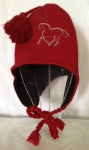 winter hat-junior red